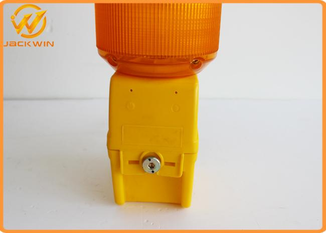 Single Battery Traffic Safety Equipment Flashing LED Traffic Warning Lights 500M Visible Distance