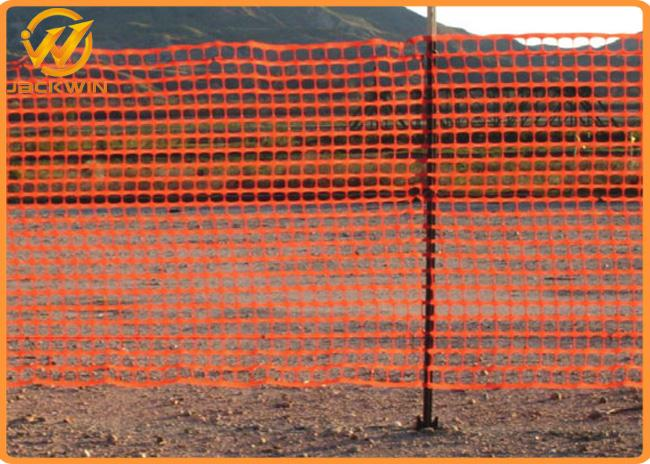 Eco Friendly Plastic Barrier Fencing , Construction Safety Plastic Mesh Netting