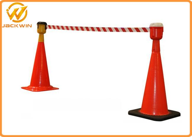 9 meters Retractable Belt Traffic Cone Topper , Road Construction Safety Cones