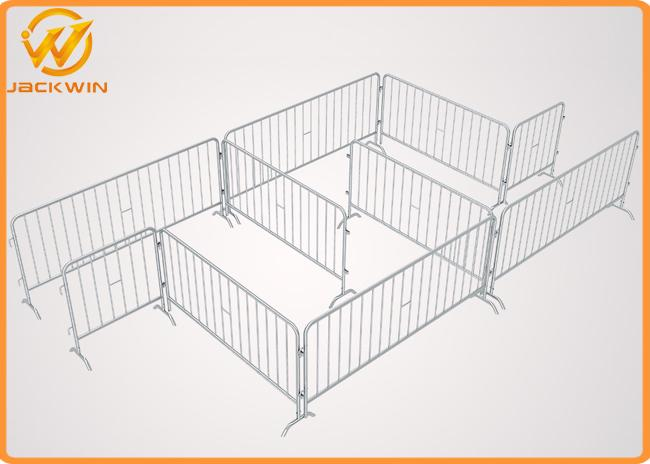 Hot Dip Galvanized metal Crowd Control Barrier , temporary barricade to party and event rental