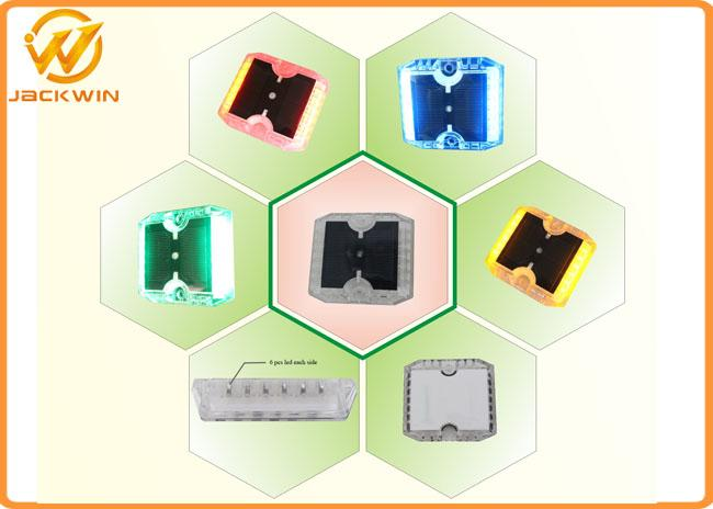 12 Pieces Anti - Sunburn Reflective Road Studs With Solar Panel , PC Material