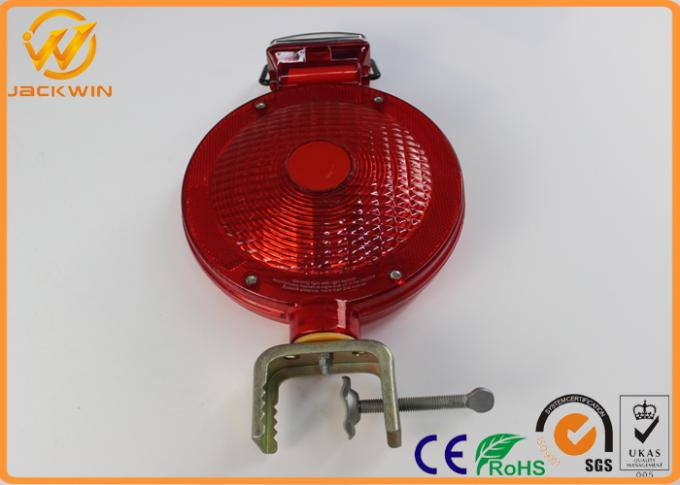 Outdoor Rechargeable Traffic Warning Lights , LED Barricade Solar Powered Warning Lights