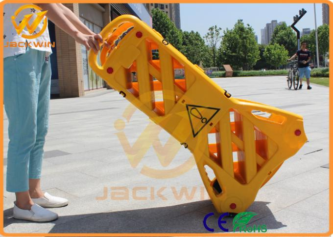 Yellow Extensible Plastic Barrier Fencing