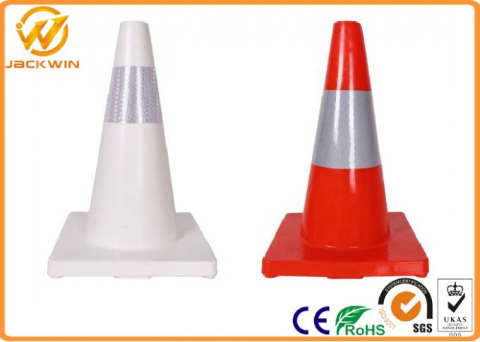 Roadside TPE Traffic Safety Cones With Reflective Sheeting , 45/70/90cm