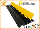 China 2 Channels Rubber Cable Protector Ramp Cord Cover with 20 Ton Weight Capacity 1000 * 250 * 50 mm company
