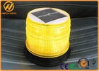 China Solar Powered LED Amber Flashing Lights with High Intensity Sensor Manual Control company