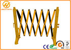 Yellow Plastic Traffic Barriers , Temporary Retractable Safety X Expandable Barricade聽950 x 3500 mm
