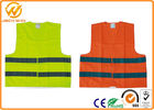 China High Visibility Polyester Reflective Safety Vests Fluorescent聽Orange / Yellow factory