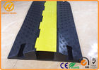 Heavy Duty Bright Yellow Safety Cable Protector Ramp for Warehouse / Conference Place