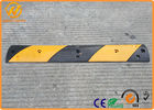 China Parking Stops Rubber Speed Cushions ,  Road Safety Black Portable Speed Humps factory