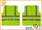 China Fluorescent Green / Orange High Visibility Safety Jacket with Reflective Strip factory