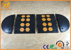 China Heavy Duty Traffic Car Parking Stopper Rubber Yellow and Black 500 * 600 * 50 mm factory