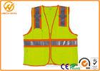 China Mesh High Visibility Reflective Safety Vests , Construction Worker Safety Work Vest with Pockets聽 factory