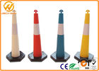 Plastic Road Dlineator Channelizer Colored Traffic Cones T Top Flexible CE / ROHS / FCC