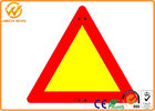 Reflective Triangle Road Signs , Railway / Highway Traffic Signs Customized