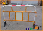 Removable Temporary Plastic Road Safety Barriers White / red / yellow 1.5M * 1M