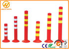 Flexible PVC Traffic Delineator Post for Station / Road Safe / Pavement 45cm 75cm Height