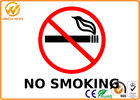 NO SMOKING Safety Signs Made of Plastic / Aluminium Board with Luminous Film