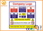 Safety Traffic Warning Signs Reflective Caution Warning Site 300 x 200mm