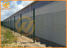 3.3m Height Galvanized Clear View Safety Fence / Security Fence Powder Coated