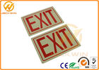 Custom Aluminum / PP Traffic Warning Signs With High Reflective Emergency Exit Signs