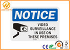 High Visibility Reflective Traffic Warning Signs Rectangle 24h Video Surveillance Sign