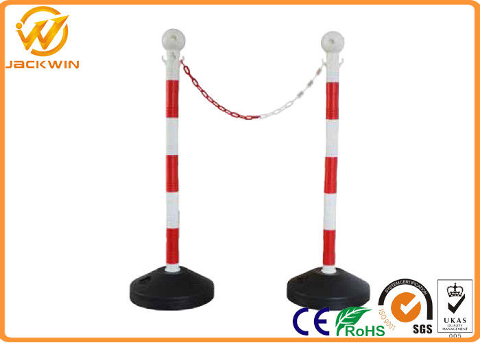 Road Safety Reflective PVC Traffic Delineator Post with Plastic Chain 90cm Height