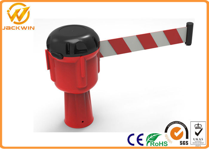 9 meters Retractable Belt Traffic Cone Topper , Road Construction Safety Cones聽
