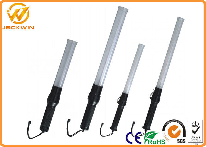 Rechargeable Portable Police LED Traffic Baton With Metal Clips Water Proof