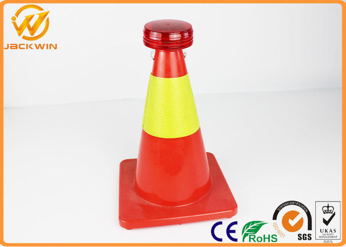 Anti Theif Traffic Safety Cones Mini LED Warning Light Powered by Solar Batteries