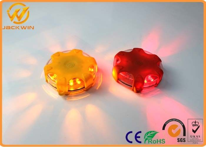 LED Emergency Road Flares Magnetic Bottom Traffic Warning Lights With Water Resistant