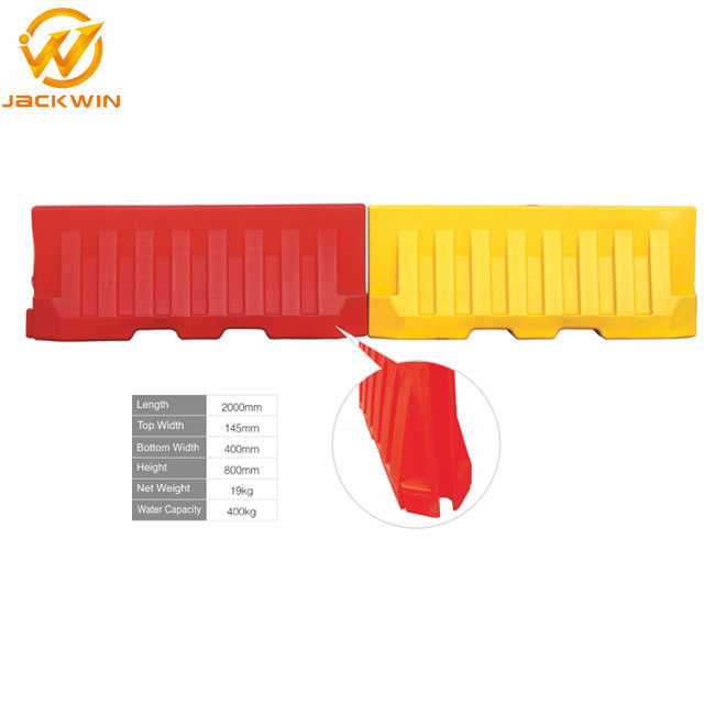 Highway / Driveway / Roadside Plastic Traffic Barriers , Water Flood Barriers Crowd Control