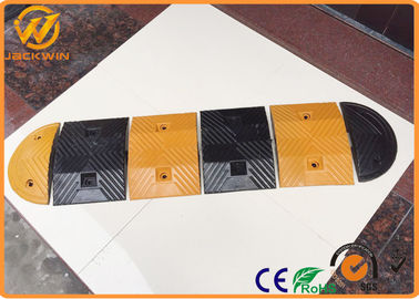 China Reflective Temporary Rubber Speed Bump , Security Residential Heavy Duty Speed Bumps distributor