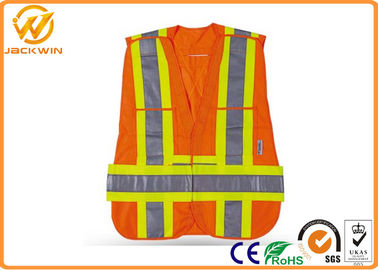 China High Visibility Safety Jacket Reflective Safety Vests With Velcro Fasten Custom distributor
