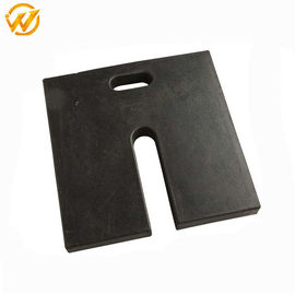 China Durable Black Rubber Pole Base For Traffic Safety Product , 45.72*45.72*5.1cm distributor