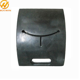 China Delineator Post black pedestal stand , rubber pole base 42.5*32.5*8.5cm distributor